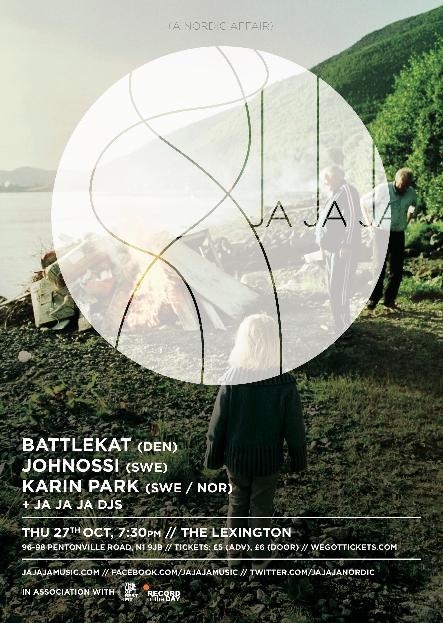 October 2011 – Battlekat, Johnossi & Karin Park