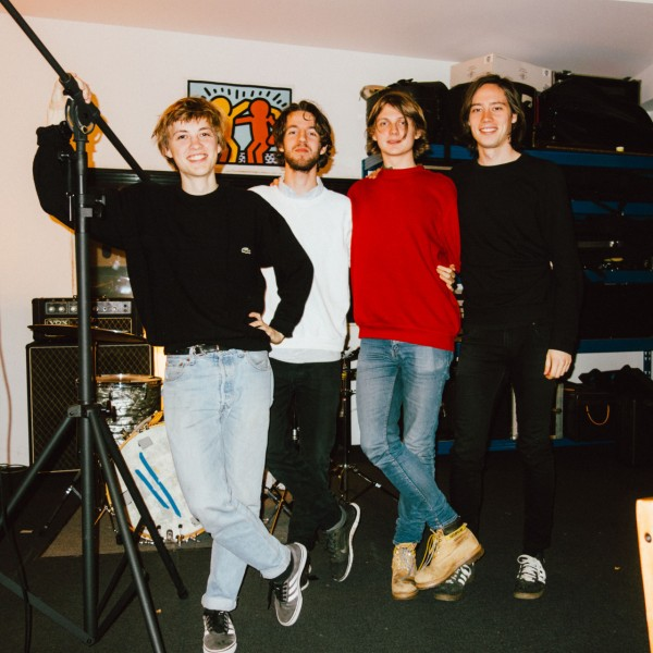 5. (From the left) Mads, Mikkel, Victor'n'Victor posing in our studio in Nørrebro.