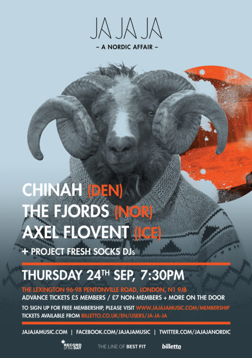 London – September 2015 with CHINAH, The Fjords, Axel Flóvent