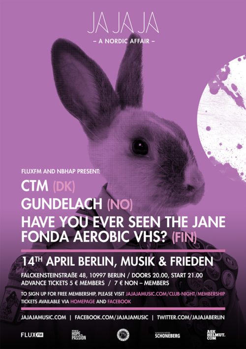 Berlin April 2016 – With CTM, Gundelach and Have You Ever Seen The Jane Fonda Aerobic VHS?