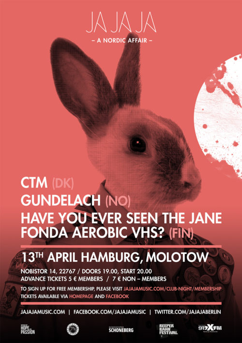 Hamburg April 2016 – With CTM, Gundelach and Have You Ever Seen The Jane Fonda Aerobic VHS?