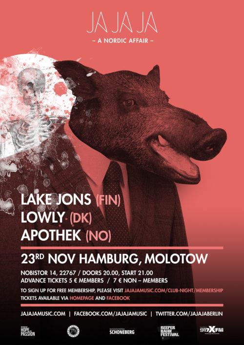 Hamburg – November 2016 with Lake Jons, Apothek and Lowly