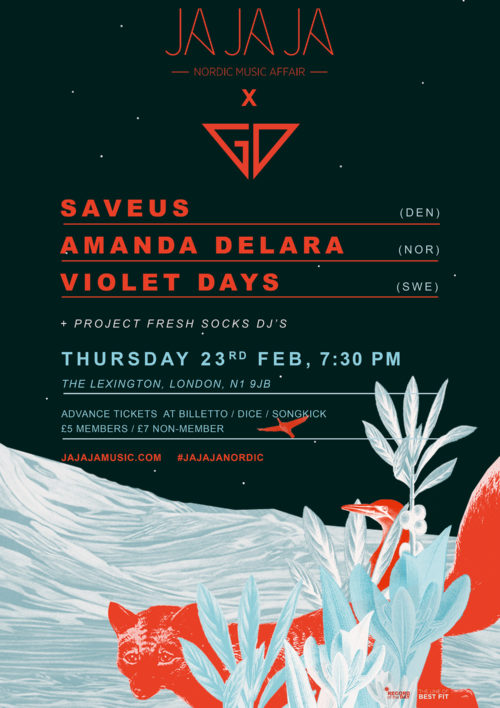 Ja Ja Ja x Gold Dust London – Feb 2017 with SAVEUS, Amanda Delara + Violet Days