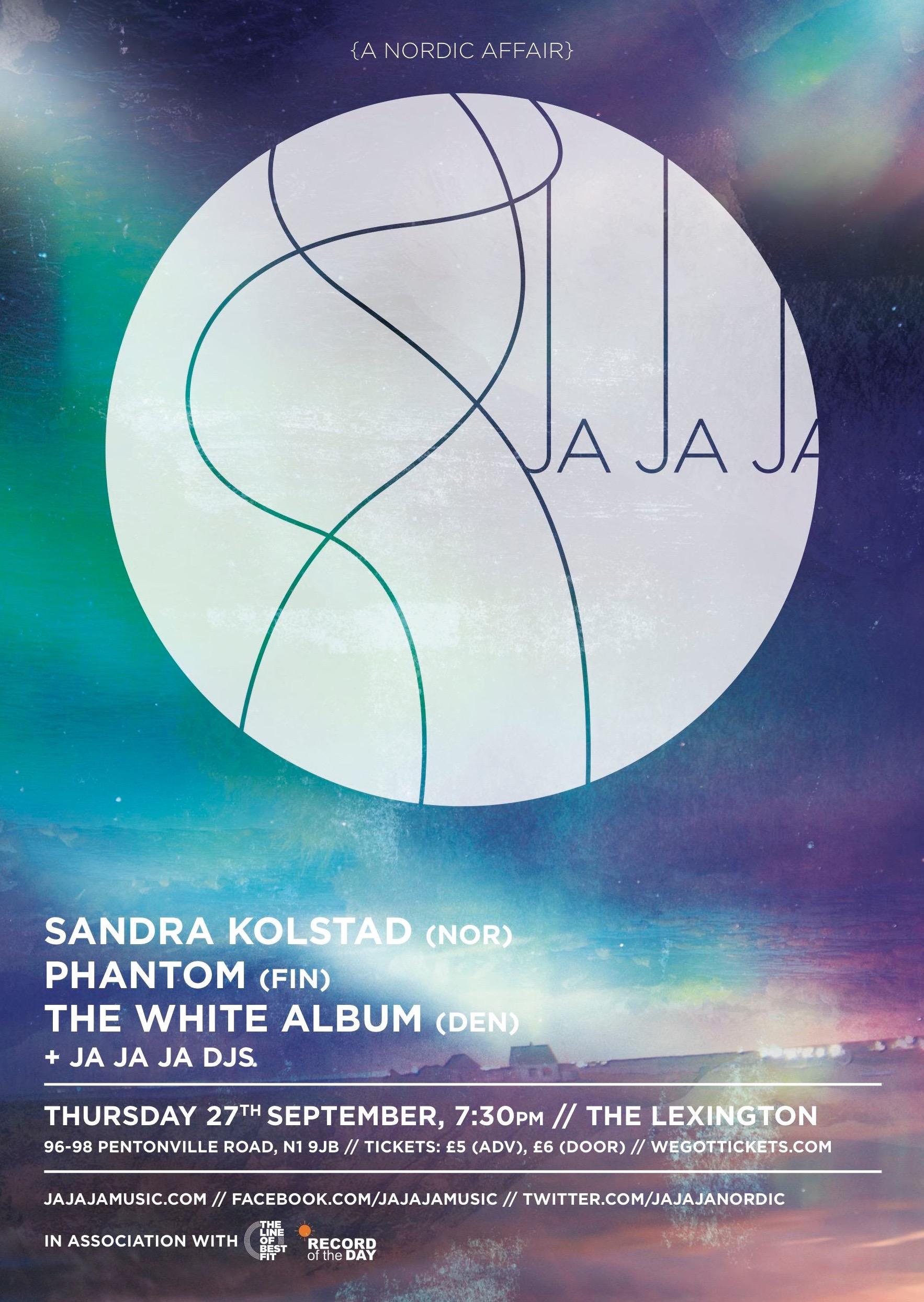 September 2012 –  Sandra Kolstad, Phantom & The White Album