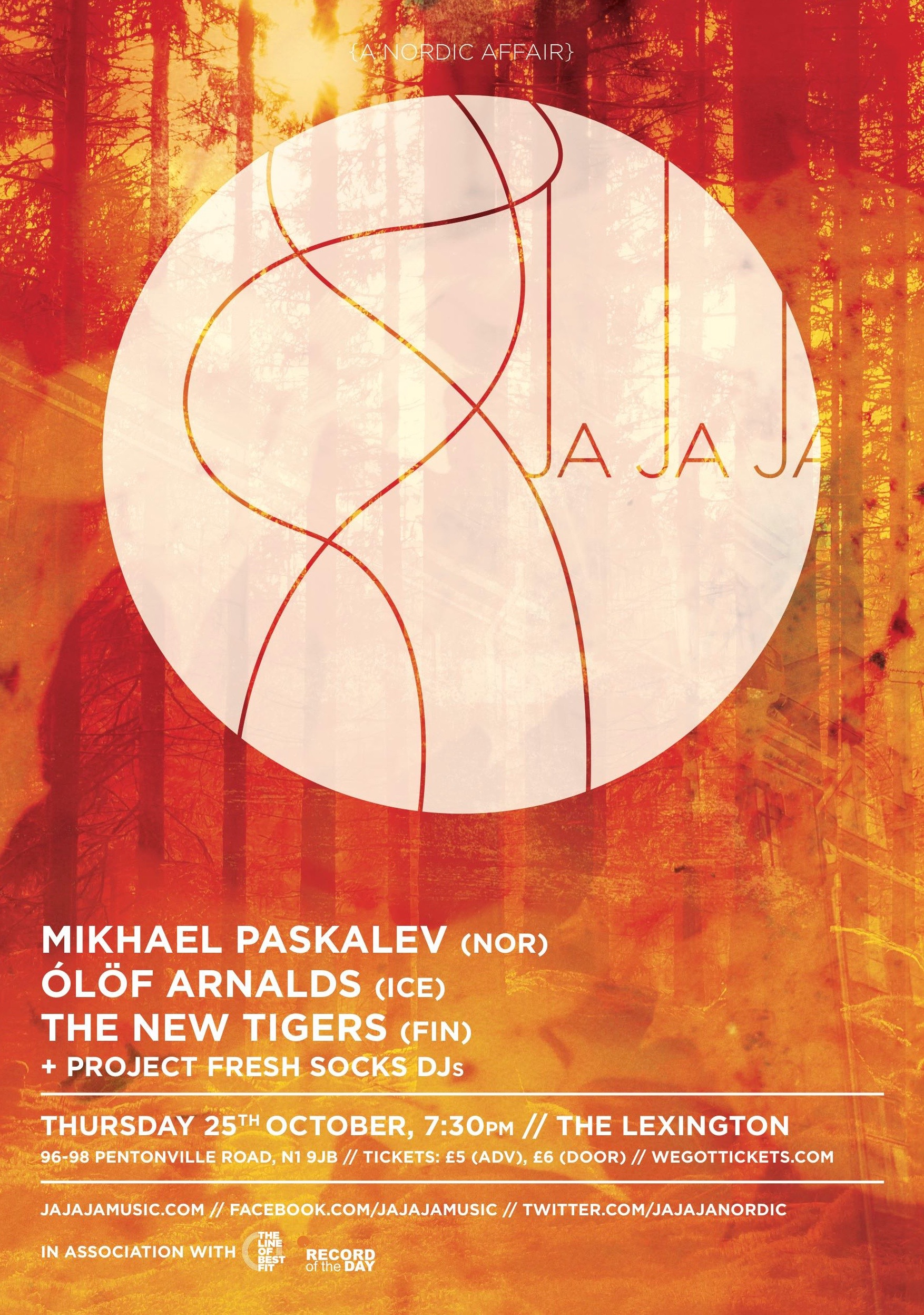 October 2012- Mikhael Paskalev, Ólöf Arnalds & The New Tigers