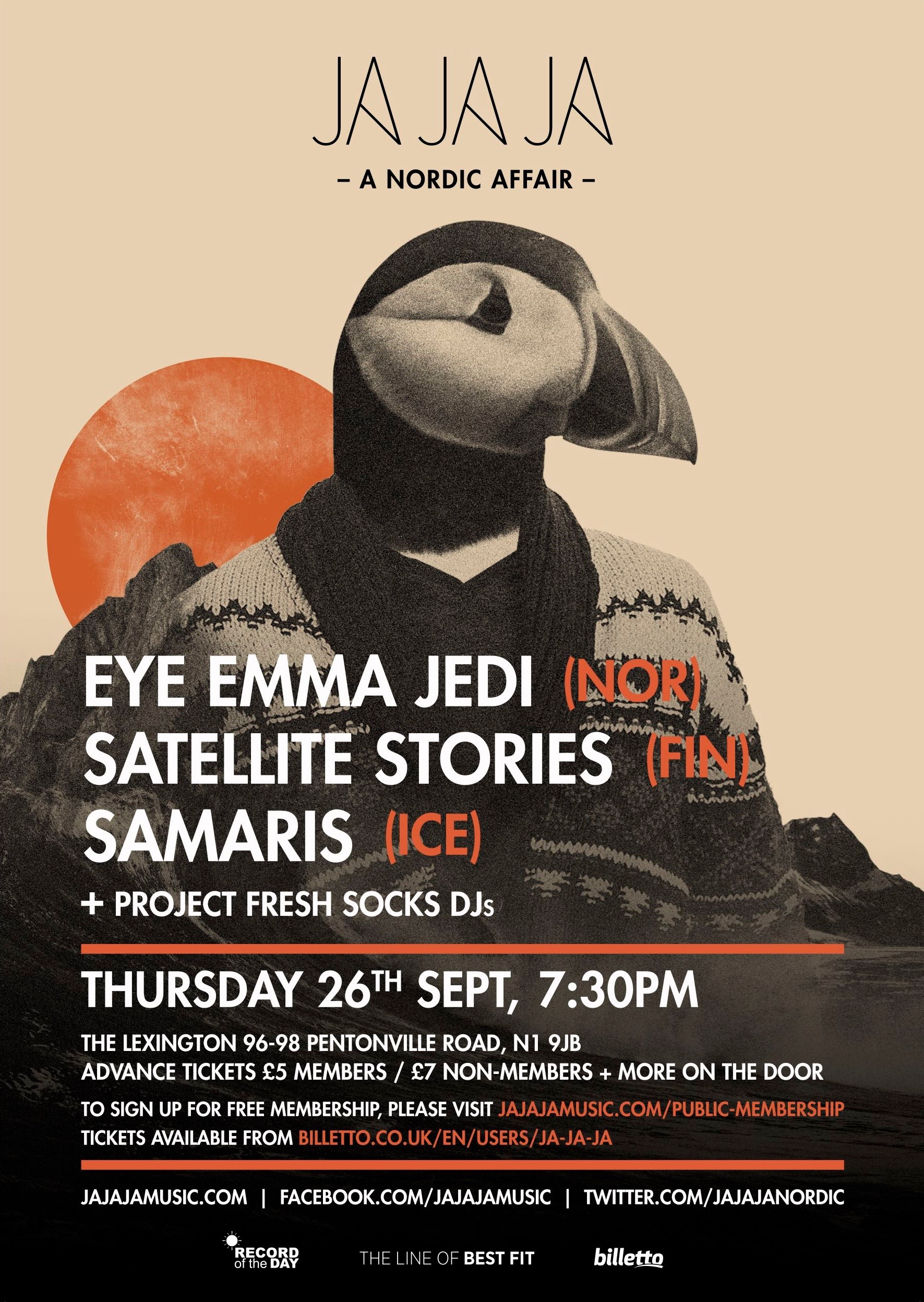 September 2013 – Eye Emma Jedi, Satellite Stories & Samaris