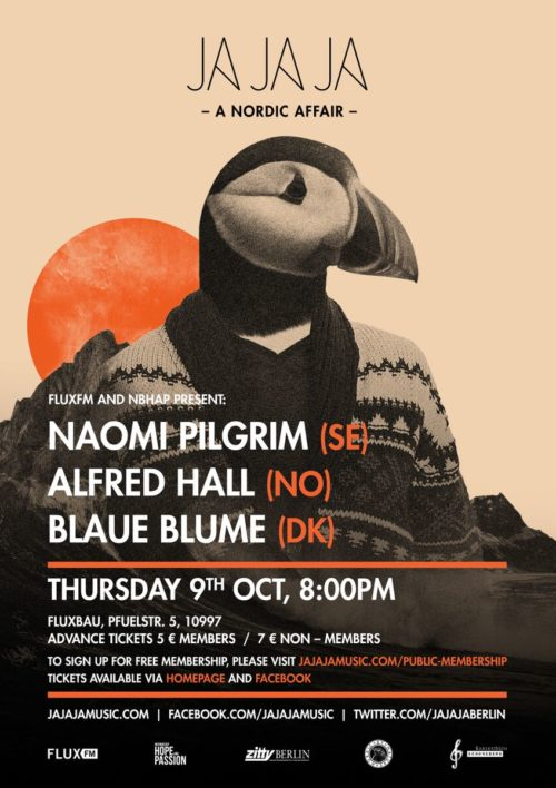 Berlin – October 2014 with Naomi Pilgrim, Alfred Hall, Blaue Blume