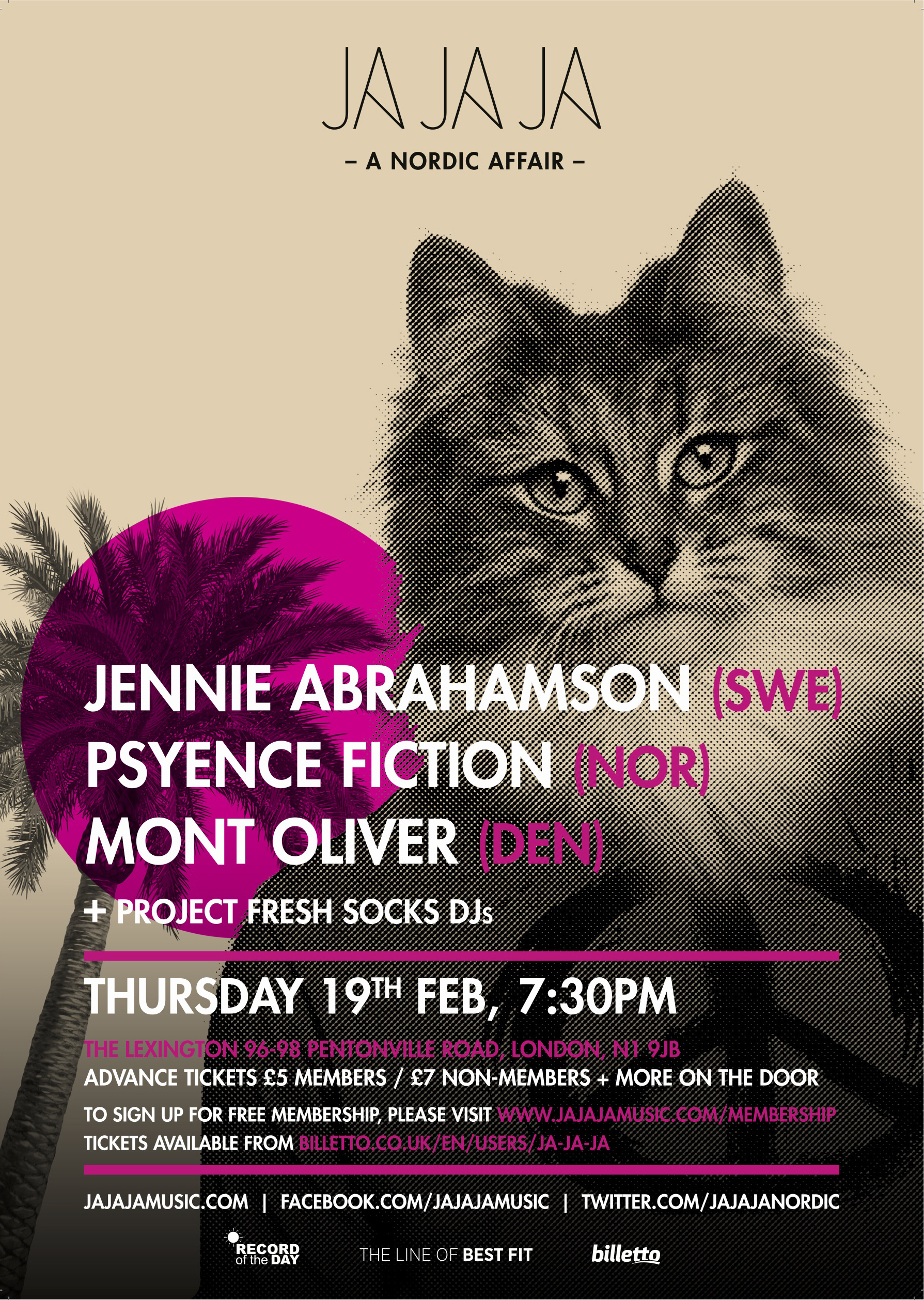 London – February 2015 with Jennie Abrahamson, Psyence Fiction and Mont Oliver
