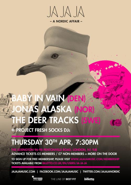 London – April 2015 with Baby In Vain, Jonas Alaska, The Deer Tracks