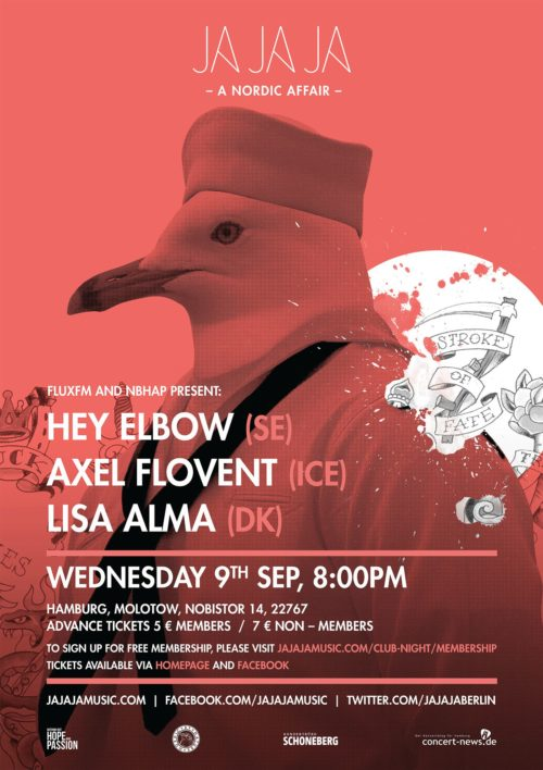 Hamburg – September 2015 with Lisa Alma, Hey Elbow and Axel Flóvent