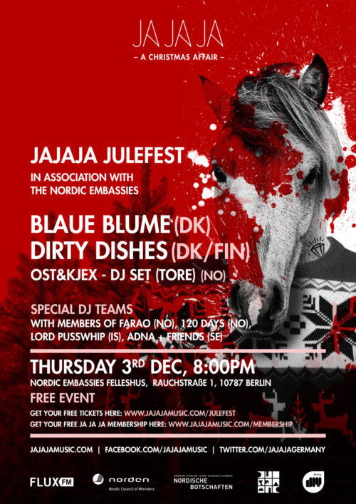 Berlin – Julefest with Blaue Blume, Dirty Dishes, Farao, Adna and more…