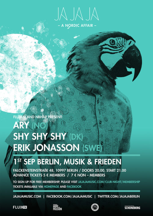 September 2016 – Ja Ja Ja Berlin with Ary, Shy Shy Shy and Erik Jonasson