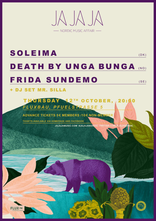Ja Ja Ja Berlin: October 2017 with Soleima, Death By Unga Bunga + Frida Sundemo
