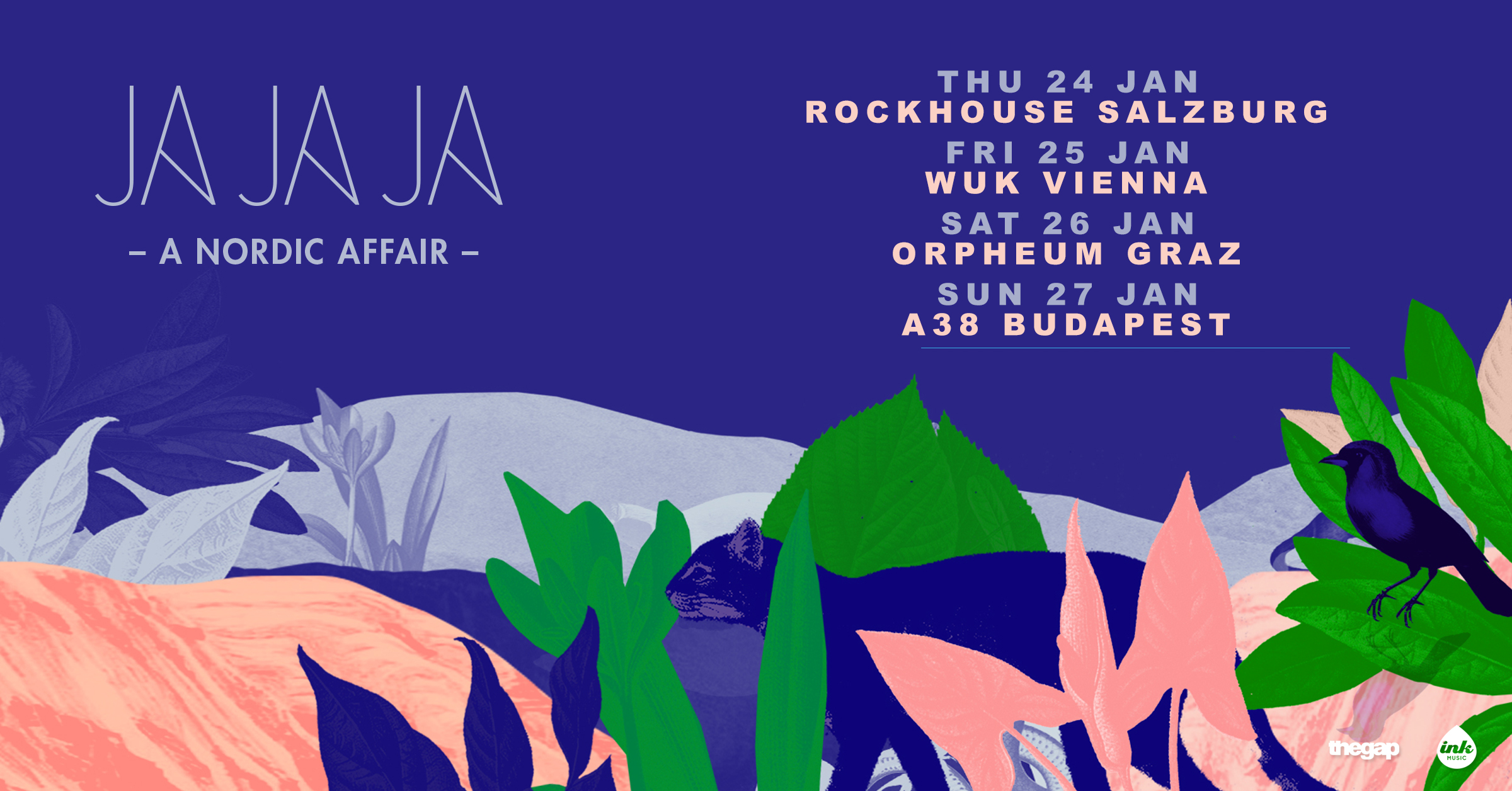 Ja Ja Ja Vienna: Jan 2019 with Iris Gold, Lake Jons, Great News, Lydmor