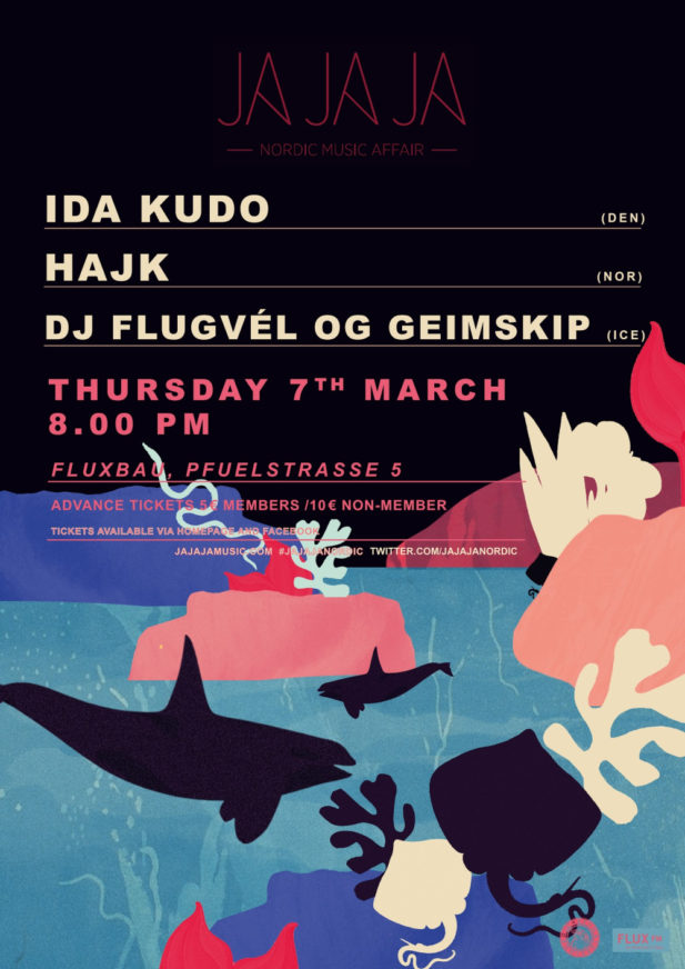 Ja Ja Ja Berlin: March 2019 with IDA KUDO, Hajk + dj flugvél og geimskip