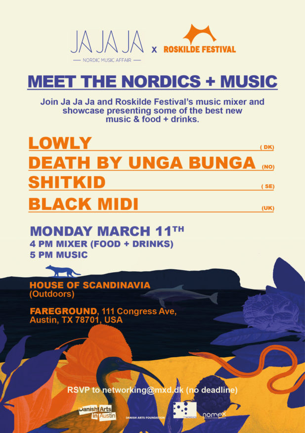 Ja Ja Ja x Roskilde Festival at SXSW 2019 – With Lowly (DK), Death By Unga Bunga (NO), ShitKid (SE), Black Midi (UK)