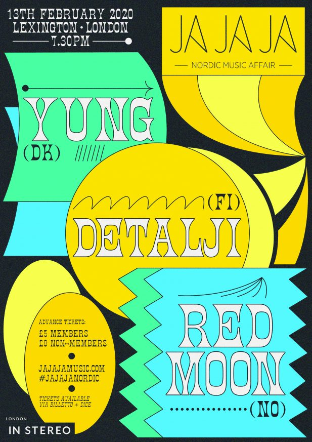Ja Ja Ja London: February 2020 with Yung, Detalji + Red Moon