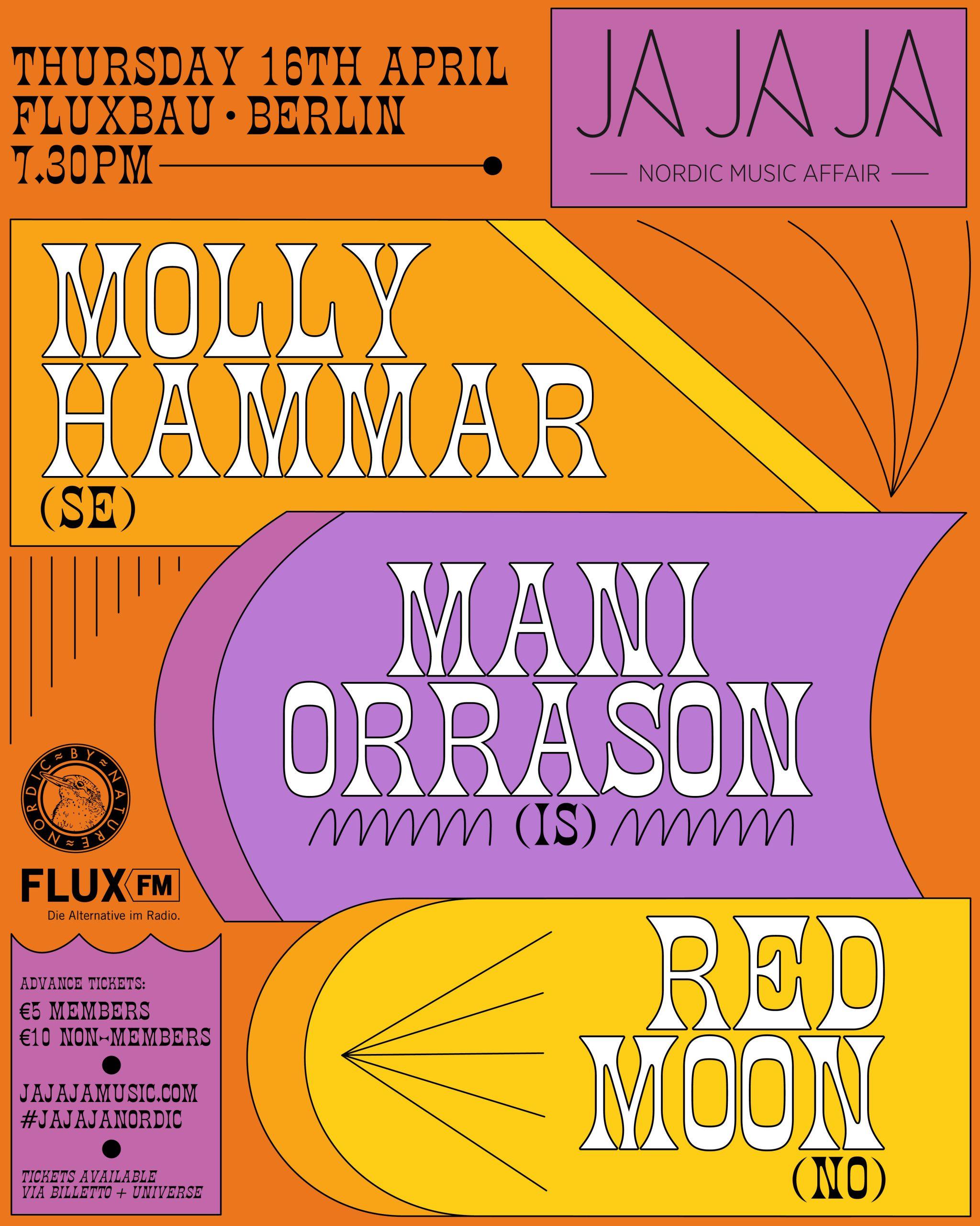 Ja Ja Ja Berlin: April 2020 with Molly Hammar, Mani Orrason + Red Moon