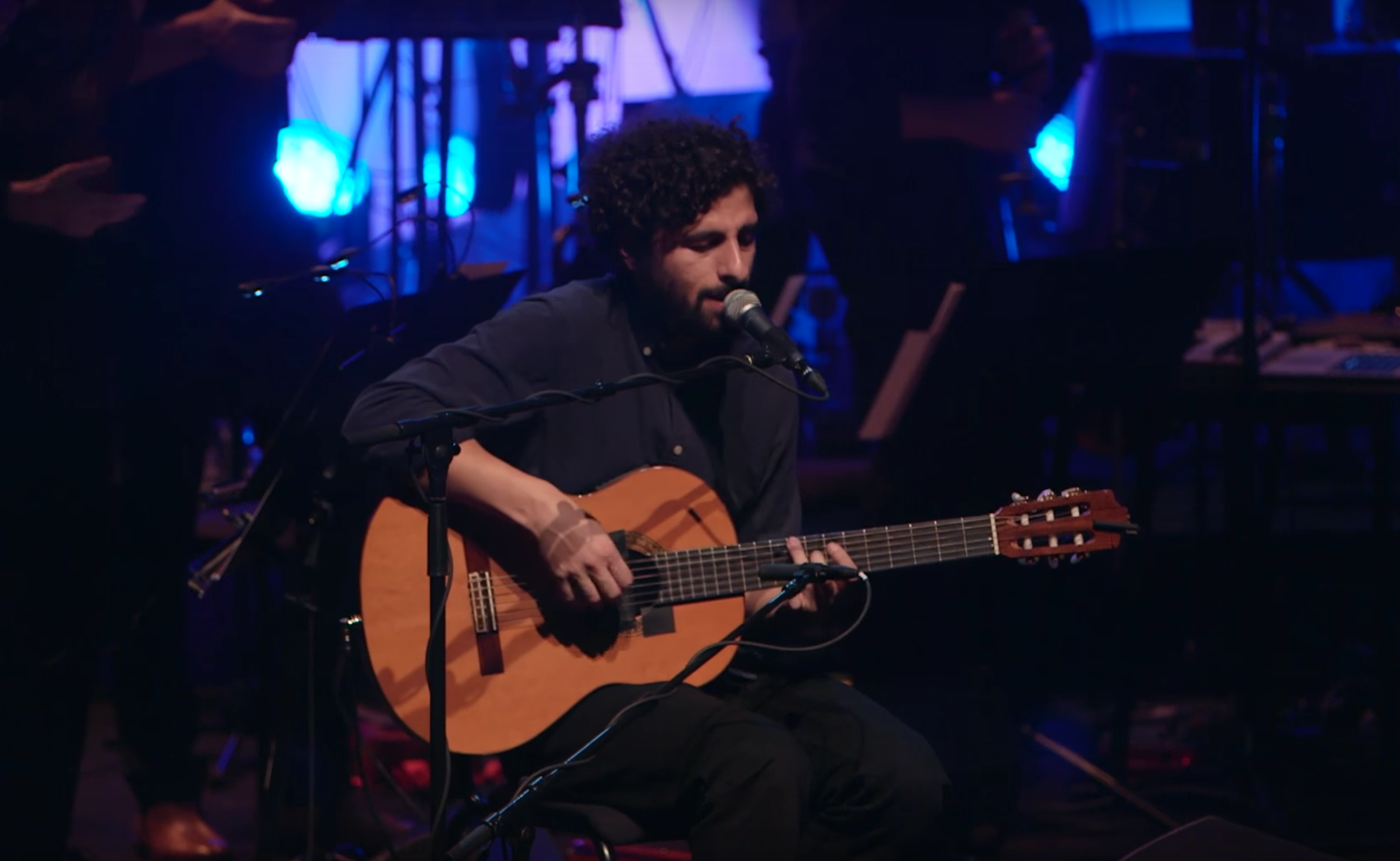 Watch as José González performs 'Leaf Off / The Cave' live at the Southbank Centre…